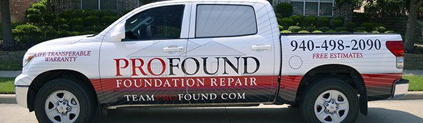 940-498-2090 UFE TRANSFERABLE WARRANTY FREE ESTIMATES PROFOUND FOUNDATION REPAIR FOUND COM TEAM