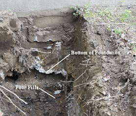Bottom of Foundation Poor Fills